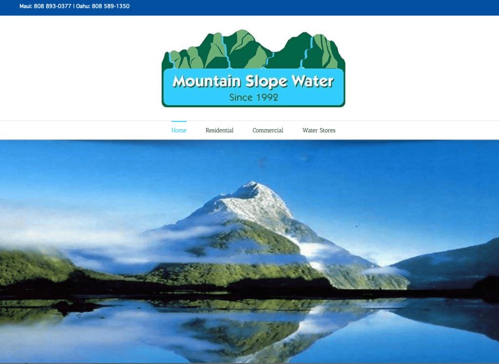 Mountain Slope Water